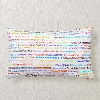 Class Of 2011 Text Design II Lumbar Pillow