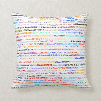 Class Of 2011 Text Design II Throw Pillow