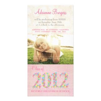 Class of 2012 Balloons Graduation Invite PhotoCard Photo Greeting Card