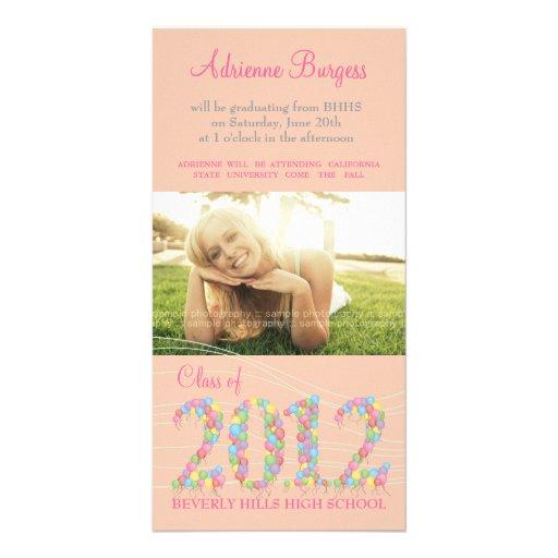 Class of 2012 Balloons Graduation Invite PhotoCard Photo Cards