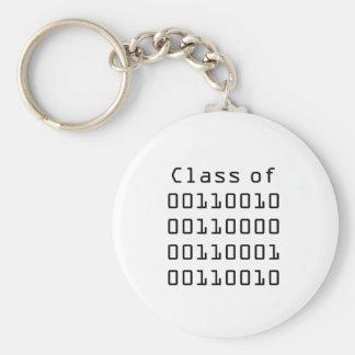 Class of 2012 Binary Keychain