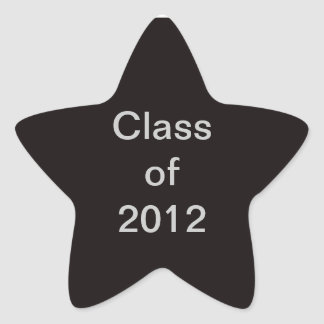 Class of 2012 Black Star Sticker