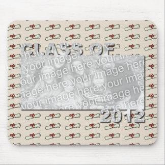Class of 2012 Cut Out Photo Frame - Beige Diplomas Mousepads