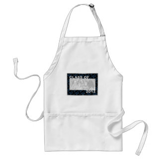 Class of 2012 Cut Out Photo Frame - Blue and Black Aprons