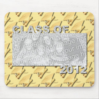 Class of 2012 Cut Out Photo Frame - Gold Caps Mouse Pads