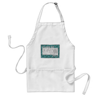 Class of 2012 Cut Out Photo Frame - Teal and Teal Apron