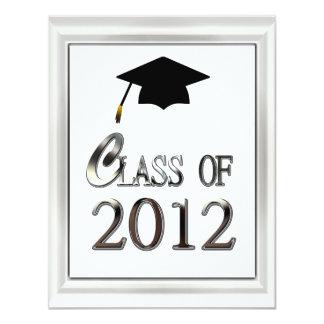 "Class Of 2012 Elegant Graduation Invitations 4.25"" X 5.5"" Invitation Card"