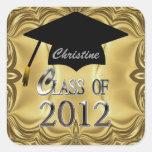 Class Of 2012 Gold Graduation Seals Sticker