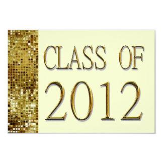 Class Of 2012 Gold Sequins Graduation Invitations