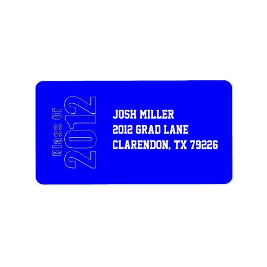 Class of 2012 Graduation Address Label