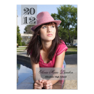 "Class of 2012 | Graduation Announcement 5"" X 7"" Invitation Card"