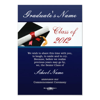 Class of 2012 Graduation Event Invitations