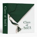 "Class of 2012 Graduation Green 1.5"" Photo Album 3 Ring Binder"