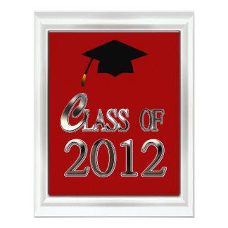 "Class Of 2012 Graduation Invitations 4.25"" X 5.5"" Invitation Card"
