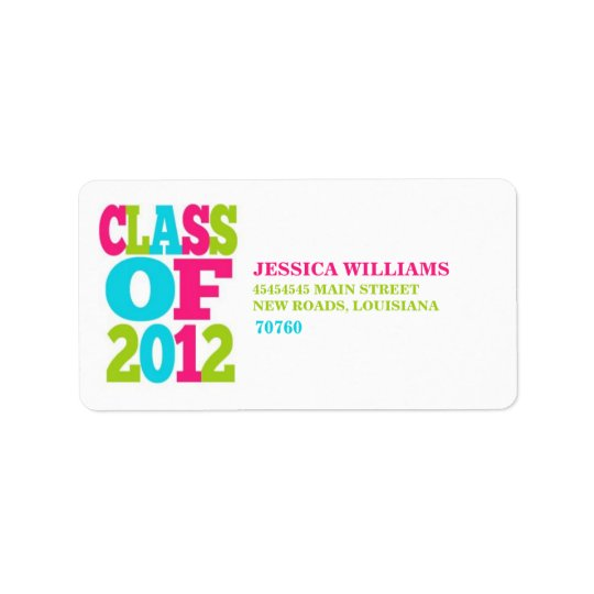 Class of 2012 | Graduation Label