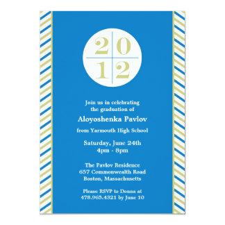 Class of 2012 Graduation Modern Flat Invitation