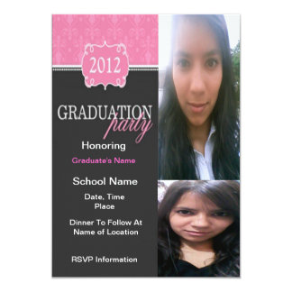 "Class of 2012 Graduation Party Invitations: Girl 5"" X 7"" Invitation Card"