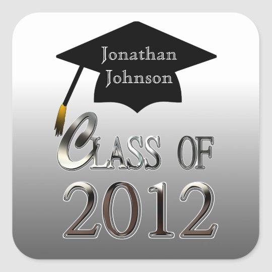 Class Of 2012 Graduation Stickers