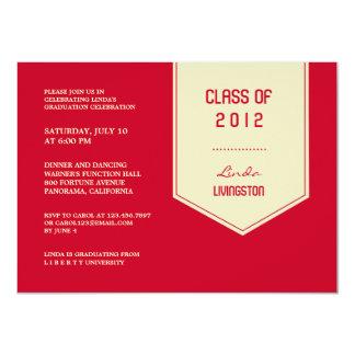 Class of 2012 Graduation Stole Flat Invitation