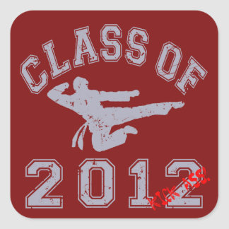 Class Of 2012 Kick-Ass - Grey 2 D Square Stickers