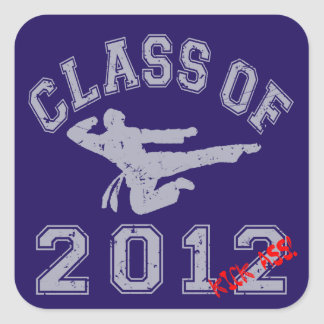 Class Of 2012 Kick-Ass - Grey 2 D Square Sticker