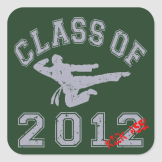 Class Of 2012 Kick-Ass - Grey 2 D Sticker