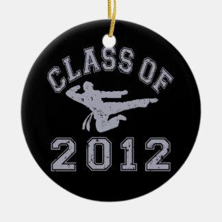 Class Of 2012 Martial Art - Grey 2 Round Ceramic Ornament