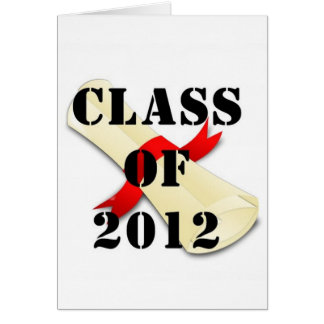 Class of 2012 Note Card