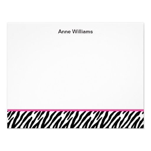 Class of 2012 Pink Black Zebra Stripe Thank You Personalized Announcements