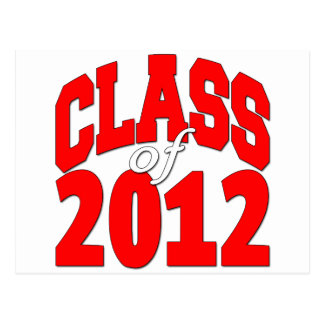 Class of 2012 Red Postcard