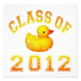 Class Of 2012 Rubber Duckie - Yellow/Orange Custom Announcements