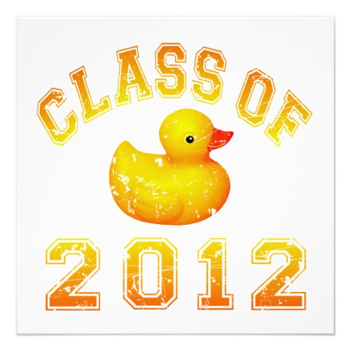 Class Of 2012 Rubber Duckie - Yellow/Orange Custom Announcements