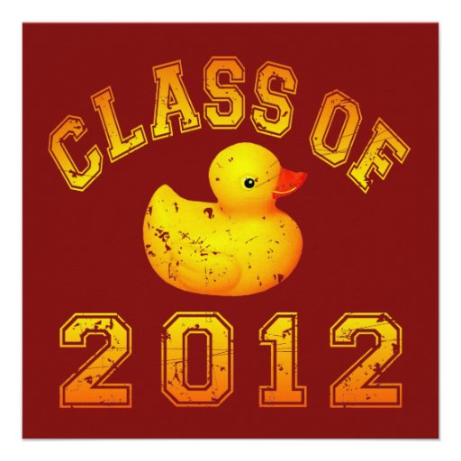 Class Of 2012 Rubber Duckie - Yellow/Orange Invitations
