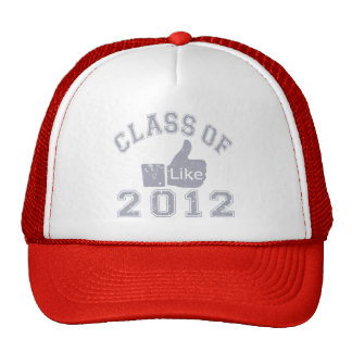 Class Of 2012 Thumbs Up Grey Mesh Hat