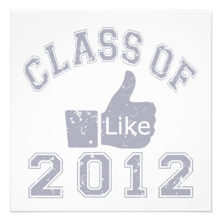 Class of 2012 Thumbs Up - Grey Personalized Announcements