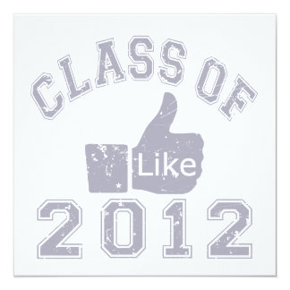 Class of 2012 Thumbs Up - Grey 5.25x5.25 Square Paper Invitation Card