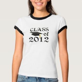 Class of 2012 with black hat T-Shirt