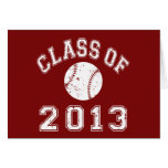 Class Of 2013 Baseball - White Greeting Card