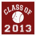 Class Of 2013 Baseball - White Invites
