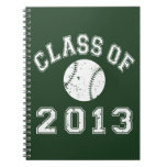 Class Of 2013 Baseball - White Note Books