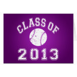 Class Of 2013 Baseball - White Note Card