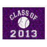 Class Of 2013 Baseball - White Postcards