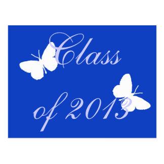 Class of 2013 - Blue Butterfly Postcard