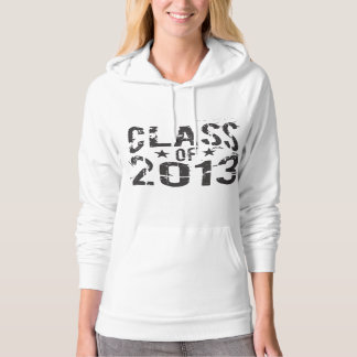 Class OF 2013 for the Cool Senior Grad Hoodie