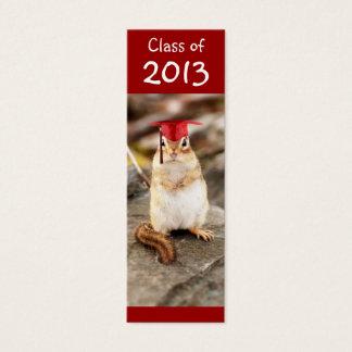 Class of 2013 Graduating Chipmunk Bookmark Mini Business Card