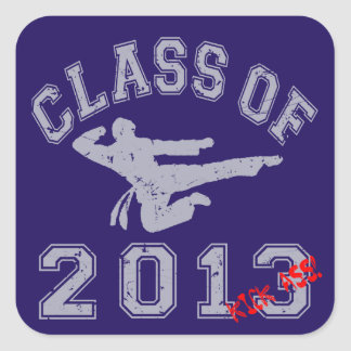 Class Of 2013 Kick-ASS Square Sticker