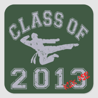 Class Of 2013 Kick-ASS Square Stickers
