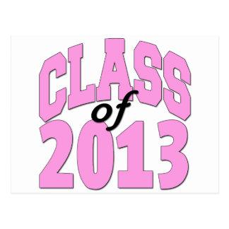 Class of 2013 Pink Postcard