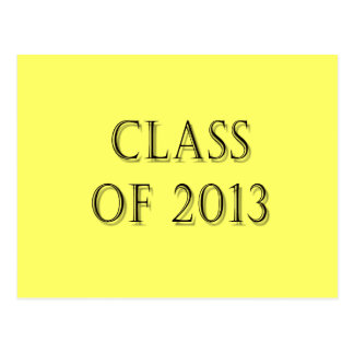 Class of 2013 post cards