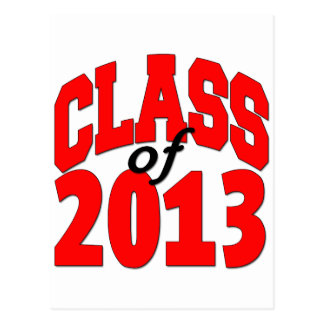Class of 2013 (red) postcard